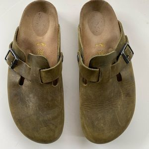 Beautiful oiled leather Birkenstock shoes💕